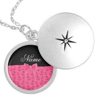 Arco rosado conocido personalizado del brillo de pendiente