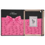 Arco rosado conocido personalizado del brillo de iPad coberturas