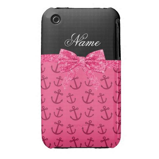 Arco rosado conocido personalizado del brillo de Case-Mate iPhone 3 cárcasa