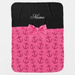 Arco rosado conocido personalizado del brillo de mantas de bebé