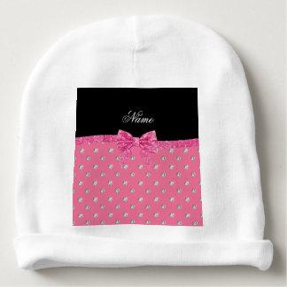 Arco rosado conocido personalizado del rosa de los gorrito para bebe