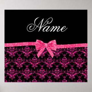 Arco rosado conocido personalizado del rosa del da posters