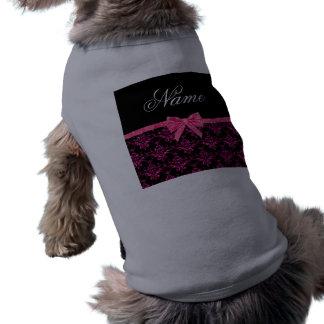 Arco rosado conocido personalizado del rosa del da camisetas de perro