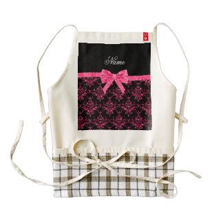 Arco rosado conocido personalizado del rosa del delantal zazzle HEART