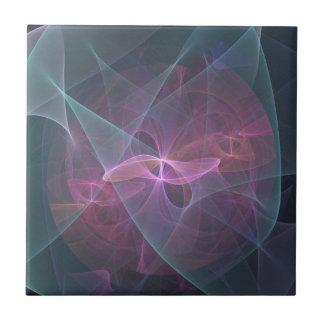 Arco rosado del fractal azulejo cuadrado pequeño