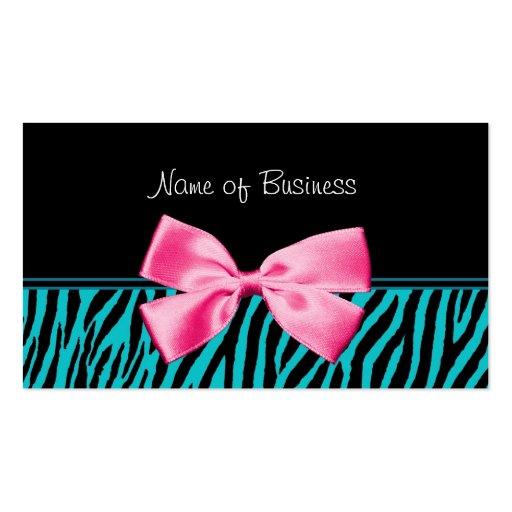 Arco rosado femenino del trullo de moda y del plantillas de tarjeta de negocio