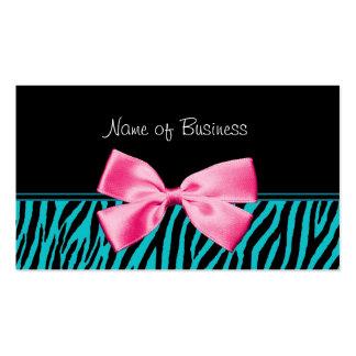 Arco rosado femenino del trullo de moda y del tarjetas de visita