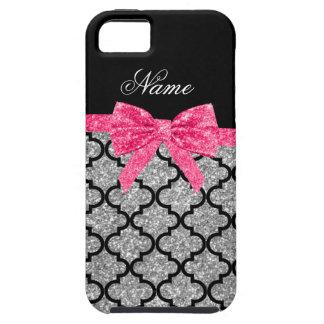 Arco rosado marroquí del brillo de plata conocido iPhone 5 carcasas