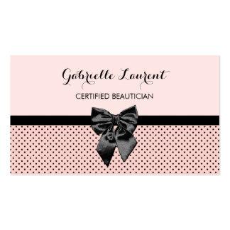 Arco rosado parisiense elegante del negro de los tarjetas de visita
