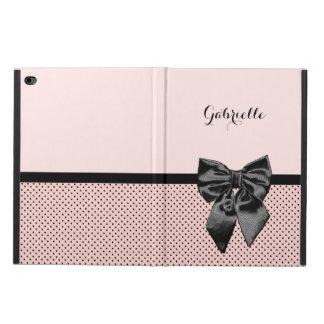 Arco rosado parisiense elegante y nombre del negro