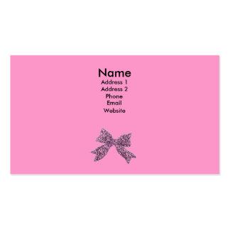 arco rosado tarjetas de visita