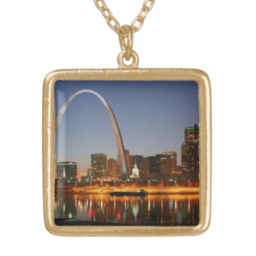 Arco St. Louis Mississippi de la entrada en la noc Grimpolas Personalizadas
