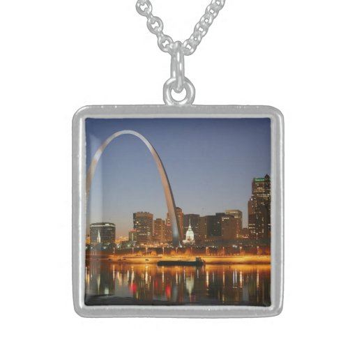 Arco St. Louis Mississippi de la entrada en la noc Grimpola Personalizada