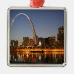 Arco St. Louis Mississippi de la entrada en la noc Ornamentos De Reyes Magos