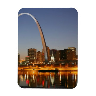 Arco St. Louis Mississippi de la entrada en la noc Iman Rectangular