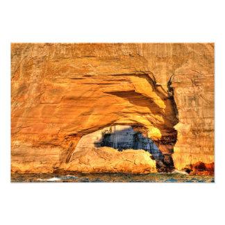 Arco Sunlit, rocas representadas NL, Michigan Impresión Fotográfica