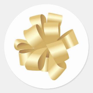 Arco tirado oro decorativo de la cinta etiquetas redondas