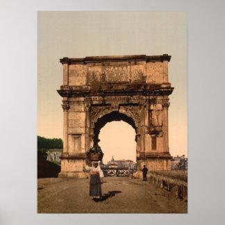 Arco triunfal de Titus, Roma, Lazio Italia Poster