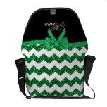 Arco verde conocido personalizado de los galones d bolsa de mensajería