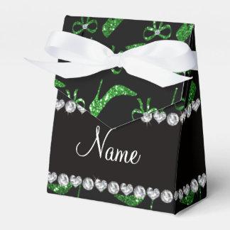 Arco verde conocido personalizado de los tacones caja para regalos