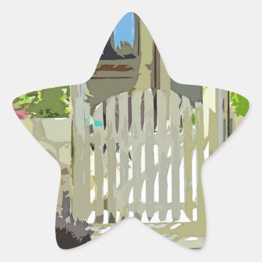 Arco verde de la puerta pegatina forma de estrella personalizadas
