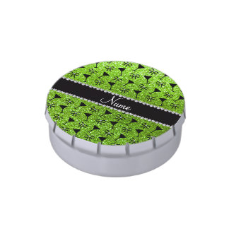 arco verde de neón conocido del vidrio de cóctel d latas de dulces