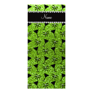 arco verde de neón conocido del vidrio de cóctel tarjetas publicitarias a todo color