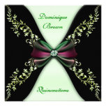 Arco verde elegante Quinceanera del diamante negro Comunicados