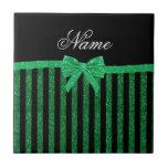 Arco verde negro conocido de encargo de las rayas  azulejos ceramicos