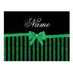 Arco verde negro conocido de encargo de las rayas  postales