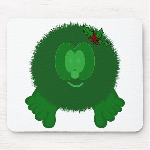 Arco verde Pom Pom PAL Mousepad del acebo
