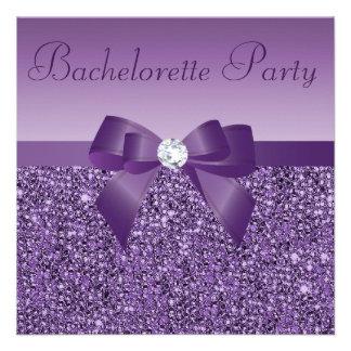 Arco y diamante impresos púrpura Bachelorette de l Comunicados Personales
