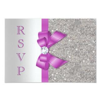 """Arco y diamantes radiantees RSVP de la orquídea Invitación 3.5"""" X 5"""""""