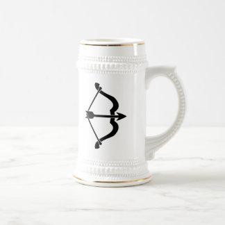 Arco y flecha jarra de cerveza