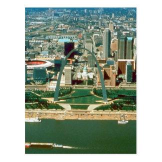 Arco y horizonte de St. Louis Postales