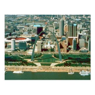 Arco y horizonte de St. Louis Tarjeta Postal