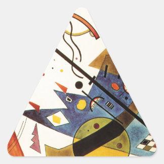 Arco y punto pegatina triangular