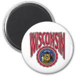Arco y sello de Wisconsin Imán De Frigorífico