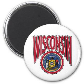 Arco y sello de Wisconsin Imán Redondo 5 Cm