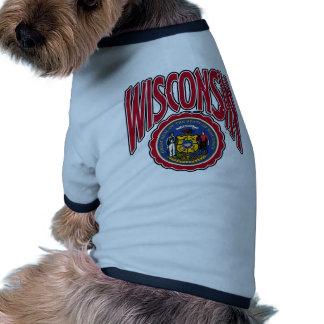 Arco y sello de Wisconsin Camisas De Perritos