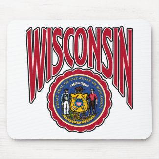 Arco y sello de Wisconsin Tapetes De Raton