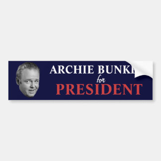 Arcón del archie para el presidente pegatina para  pegatina para auto