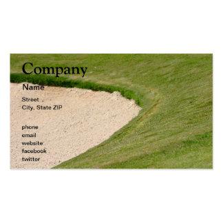 Arcón del golf plantilla de tarjeta personal