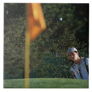 Arcón tirada (golf) azulejo cuadrado grande