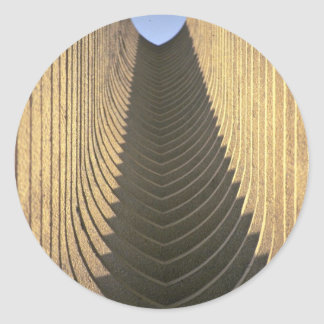 Arcos abstractos del saudí pegatina redonda