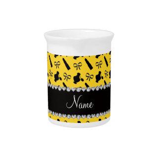 Arcos amarillos conocidos personalizados del lápiz jarra para bebida