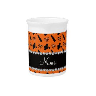 Arcos anaranjados conocidos personalizados del jarras para bebida