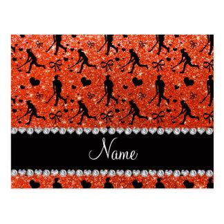 Arcos anaranjados de neón conocidos de los postal