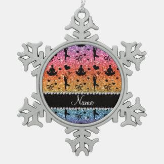 Arcos brillantes conocidos de los corazones de la adorno de peltre en forma de copo de nieve