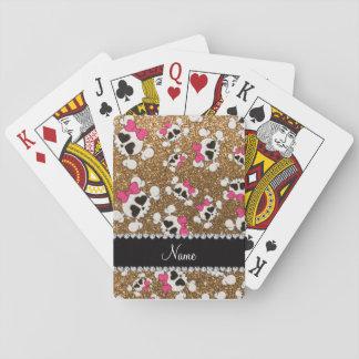 Arcos conocidos de encargo del rosa de los cráneos baraja de cartas